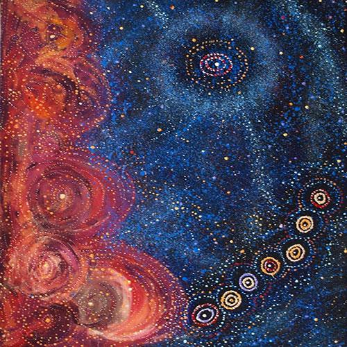 Alma Nungarrayi Granites Star Dreaming seven sisters dreaming 1 image